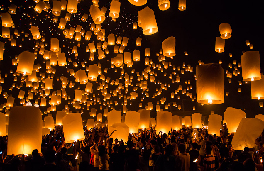 new years eve in chiang mai a thousand lanterns and wishes in the sky